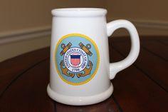 Large United States Coast Guard 1790 Beer Stein New Shelf Stored Mug Seal