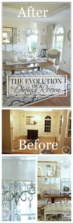 EVOLUTION OF A DINING ROOM Taking a room from drab to fab and everywhere in between!
