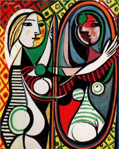 Girl in front of mirror - Pablo Picasso