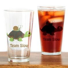 Team Slow Drinking Glass on CafePress.com