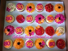 50th birthday cupcakes for women | Cupcakes in Stoke-on-Trent and Staffordshire