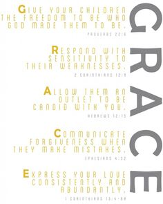 Grace to your kids. Printable.