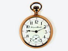 Mega Rare Antique Railroad 18s 23J Hampden Gold Pocket Watch Serviced #Hampden