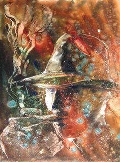 Olga Vinnitskaya. Portrait gegenLicht. Aquarell auf Papier.
