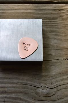 Custom Guitar Pick - Metal Stamping - Copper - Men - Men's' - Personalized - Guys Gift - Under 20 - For Him - For Dad - Music - Musicians by CynicalRedhead on Etsy Love. This is so perfect for me right now. Gotta gift it