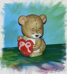NEW ITEM Bear with Heart Figurine BRINNS by PurePoetrysEmporium
