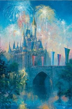 Walt Disney World Castle: By James Coleman. Love James Coleman, love Disney World Walt Disney World, Disney Pixar, Disney Amor, Disney World Castle, Disney Girls, Disney And Dreamworks, Disney Theme, Disney Magic, Disney Dream