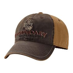 fab79642861 Amazon.com   Legendary Whitetails Men s Two-Tone Brown Vintage Buck Cap  Brown One Size   Hunting Hats   Sports   Outdoors