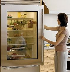 Love the idea of a see through refrigerator but it'd be such a pain keeping it clean/organized!