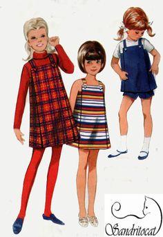1960s Butterick 4658 Girls MOD Matchbox Jumper or by sandritocat, $10.00