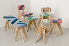 色かわいいいろ!ほしい。 Furniture Made Using Wind by Merel Karhof