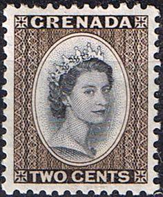 Grenada 1953 Queen Elizabeth Head SG 194 Fine Mint SG 194 Scott 173 Other West indies Stamps HERE