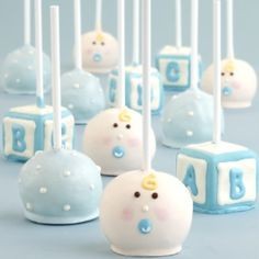 Baby boy/shower cake pops!