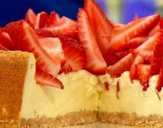 Cheesecake de frutilla apta para diabéticos