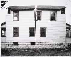 Matta Clark, Splitting, 1974; Collection SFMOMA; © Estate of Gordon Matta-Clark / Artists Rights Society (ARS), New York