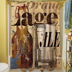 Old Lager Shower Curtain