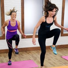 When you combine Pilates, hand weights, and cardio, you get one wicked workout. And by wicked, we mean really fun and really effective. Lisa Corsello, the founder of Burn SF , leads you through 30 minutes of her signature fitness routine, weaving Pilates core exercise with classic lifting moves and cardio bursts. This workout is so varied that you will never get bored. If you want more of Lisa, check out the Burn DVD . Related 30-Minute Fat-Burning Pilates Workout