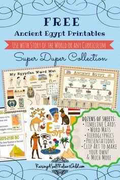 Free Printables All About Ancient Egypt