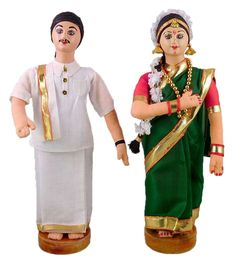 Tamil Bridal Doll (Cloth) Indian Wedding Couple, Wedding Couples, Doll Costume, Costumes, Indian Marriage, Indian Dolls, Bride Dolls, Traditional Dresses, Doll Clothes
