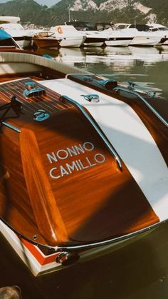 "Granparents are great gift ✨ - Riva Aquarama Special ""Nonno Camillo"" Riva Boat, Sedans, Great Gifts, Italy, Classic, Boats, Derby, Italia, Limo"