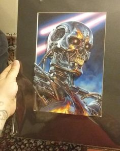Shared by ufo4show #skynet #skyneteniarazon (o) http://ift.tt/1THm2zZ #t2 #t800 #movies #theterminator #3d #3dpainting #awesome #painting #print #machine  #