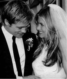 Brad Pitt and Jennifer Aniston. This happened people.