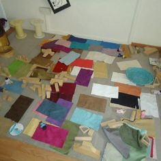 Addition of fabric to block area- great idea for add on to block play