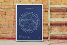 Northern sky map by Stellavie Design http://www.stellavie.com/home/en/products/print-silkscreen-stellar-map-northern-sky/
