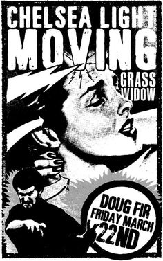 Chelsea Light Moving gig poster by Nat Damm