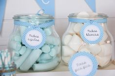 #candybar #comunión azul niña o niño Baby Birthday Cakes, 1st Boy Birthday, Baby Shower Parties, Baby Boy Shower, Candy Bar Bautizo, Blue Candy Bars, Peter Rabbit Party, Baptism Decorations, Baby Shawer