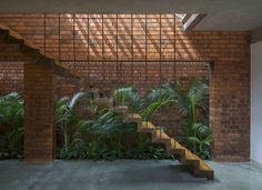 of Brick House / Architecture Paradigm - 2 Image 2 of 26 from gallery of Brick House / Architecture Paradigm. Photograph by Anand JajuImage 2 of 26 from gallery of Brick House / Architecture Paradigm. Photograph by Anand Jaju Brick Architecture, Indian Architecture, Architecture Details, Brick Design, Facade Design, House Design, Brick Masonry, Brick Facade, House Staircase