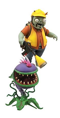 Diamond Select Toys Plants vs. Zombies: Garden Warfare: Engineer Zombie with Turret and Chomper with Spike Weed Select Action Figure (2-Pack) Diamond Select