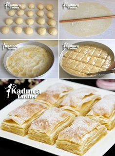 Kürt böreği veya ratlı börek Turkish Recipes, Indian Food Recipes, Italian Recipes, Turkish Sweets, Sweet Pastries, Fresh Fruits And Vegetables, Pastry Recipes, Wedding Desserts, Snacks