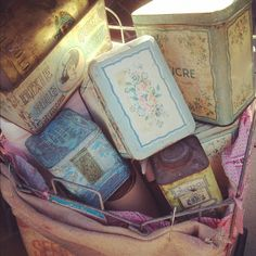 Vintage tins, Pam Garrison