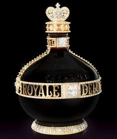 This unique bottle of French black raspberry liqueur is decorated with more than 60 carats of diamonds, including round brilliant cut, pear cut, a. Expensive Wine, Expensive Taste, Most Expensive, Alcohol Bottles, Liquor Bottles, Perfume Bottles, Whisky, Perfumes Vintage, Raspberry Liqueur