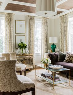 Erin Gates Design // living room // modern traditional