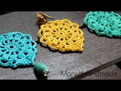 Nice and easy crochet earrings, Aqua, My Crafts and DIY Projects