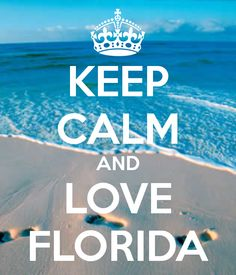 KEEP CALM AND LOVE FLORIDA - KEEP CALM AND CARRY ON Image Generator - brought to you by the Ministry of Information i wish i was there right now instead of pa