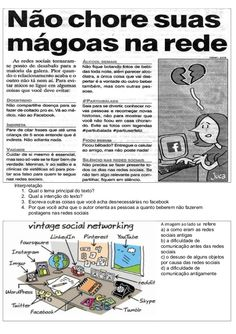 ATIVIDADES DIVERSAS CLÁUDIA: Atividades Língua Portuguesa - Redes sociais