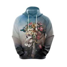 Love Store, Flower Skull, Zip Hoodie, High Definition, Arms, Just For You, Hoodies, Fabric, Prints