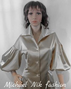 A personal favorite from my Etsy shop https://www.etsy.com/listing/260015029/victorian-satin-blouse-silver-balloon