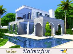 Based on modern hellenic architecture this house is a cute alternative to summer vacations. It is cool, sunny surrounding with flowers an with its own private pool. It can also be used as the...
