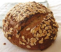Oatmeal whole wheat bread. Rest in the fridge overnight. Supposed to be really grainy and delicious!
