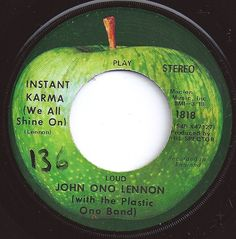 #3 on Billboard Apple Records, Old Records, Vinyl Records, Music Music, I Love Music, Good Music, Beatles Albums, The Beatles, Instant Karma