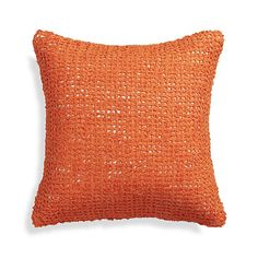 "Lanzo Orange 18"" Pillow with Down-Alternative Insert  