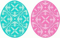 Silhouette Online Store - View Design #38843: filigree easter eggs