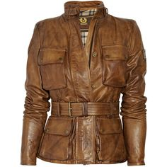 Belstaff Triumph leather jacket ($915) ❤ liked on Polyvore featuring outerwear, jackets, coats, tops, women, 100 leather jacket, leather zip jacket, real leather jacket, genuine leather jacket and stand collar leather jacket