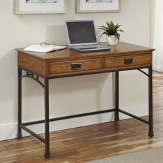 Found it at Wayfair - Modern Craftsman Computer Desk with Drawers