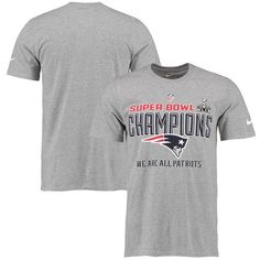 New England Patriots Nike Super Bowl XLIX Champions Trophy Collection Locker Room T-Shirt – Gray - $20.99