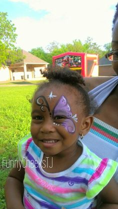 Butterfly Birthday Party Face Painting